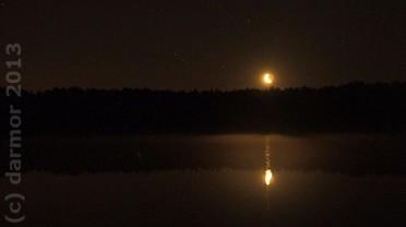 Wschód Księżyca, uroczy.