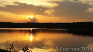Zachód Słońca po burzy. Zalew Sulejowski.