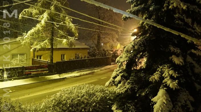 Wólka nocą - Śnieg, dużo śniegu...