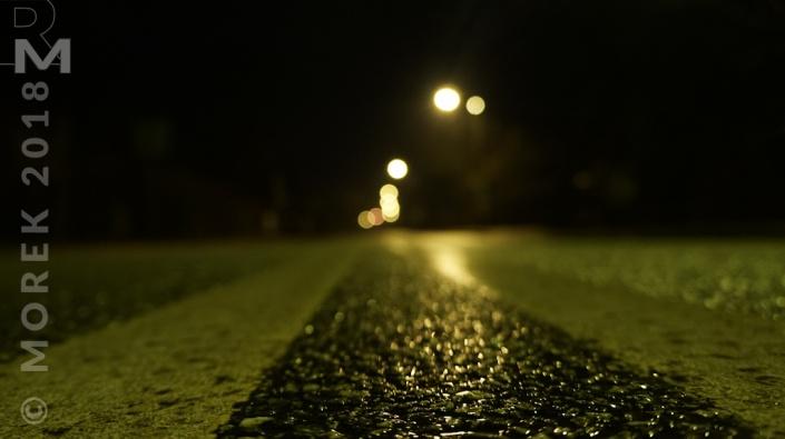 Wólka nocą - po prostu ulica.